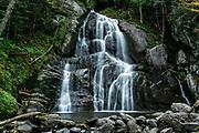Moss Glen Falls waterfall in Vermont.