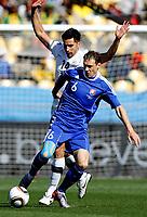 Fotball<br /> 15.06.2010<br /> VM 2010<br /> New Zealand v Slovakia<br /> Foto: Gepa/Digitalsport<br /> NORWAY ONLY<br /> <br /> Bild zeigt Zdenko Straba (SVK) und Rory Fallon (NZL).