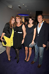 Left to right, PRINCESS BEATRICE OF YORK, SARAH, DUCHESS OF YORK, PRINCESS EUGENIE OF YORK and DAVE CLARK at The Ralph Lauren Sony Ericsson WTA Tour Pre-Wimbledon Party hosted by Richard Branson at The Roof Gardens on June 18, 2009