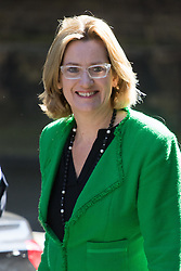 Downing Street, London, July 19th 2016. Home Secretary Amber Rudd arrives at the first full cabinet meeting since Prime Minister Theresa May took office.
