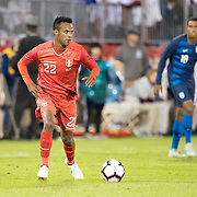EAST HARTFORD, CONNECTICUT- October 16th:   Nilson Loyola #22 of Peru in action during the United States Vs Peru International Friendly soccer match at Pratt & Whitney Stadium, Rentschler Field on October 16th 2018 in East Hartford, Connecticut. (Photo by Tim Clayton/Corbis via Getty Images)