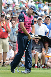 August 9, 2018 - Town And Country, Missouri, U.S - SERGIO GARCIA from Spain reacts as his tee shot goes off line during round one of the 100th PGA Championship on Thursday, August 8, 2018, held at Bellerive Country Club in Town and Country, MO (Photo credit Richard Ulreich / ZUMA Press) (Credit Image: © Richard Ulreich via ZUMA Wire)