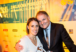 Andreja Klepac and Marko Umberger at Slovenian Tennis personality of the year 2016 annual awards presented by Slovene Tennis Association Tenis Slovenija, on December 7, 2016 in Siti Teater, Ljubljana, Slovenia. Photo by Vid Ponikvar / Sportida