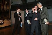 Opening van de Tentoonstelling Voor Napoleon. Hollanders in oorlogstijd, 1792-1815 in het Legermuseum, Delft.<br /> De tentoonstelling is op 13 oktober geopend door Charles Napoléon, le Prince, een directe afstammeling van Napoleon Bonaparte.  <br /> <br /> Op de foto:<br /> <br /> <br /> <br /> <br /> John H. Gill , <br /> Charles Napoléon , <br /> Mark van Hattem,<br /> Dirk Staat