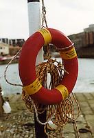 Lifebouy at Dun Laoghaire Pier in Dublin Ireland