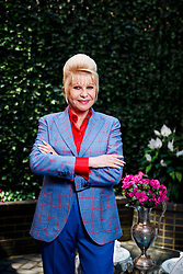 EXCLUSIVE: Ivana Trump and her dog Tiger are pictured at her upper east side townhouse on April 18, 2018. 18 Apr 2018 Pictured: Ivana Trump. Photo credit: Annie Wermiel/NY Post / MEGA TheMegaAgency.com +1 888 505 6342