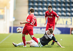Raith Rovers Lewis Vaughan and Falkirk's Blair Alston.<br /> Falkirk 2 v 1 Raith Rovers, Scottish Championship game played today at The Falkirk Stadium.<br /> © Michael Schofield.