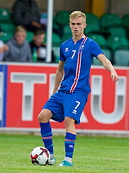 RHYL, WALES - Monday, September 4, 2017: Iceland's Atlu Hrafn Andrason during an Under-19 international friendly match between Wales and Iceland at Belle Vue. (Pic by Paul Greenwood/Propaganda)