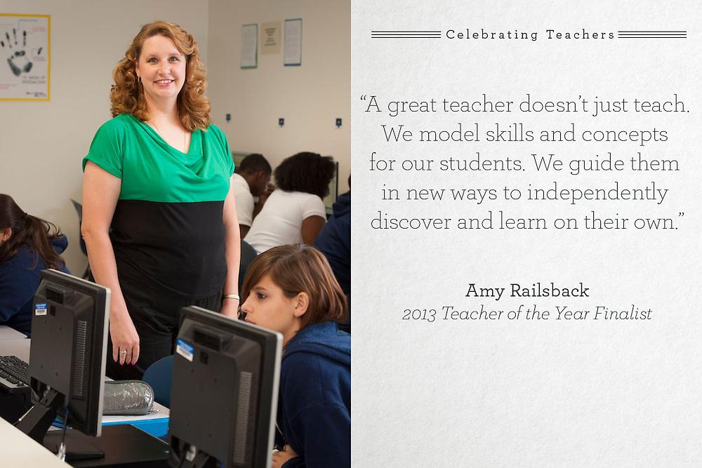 Grady Middle School teacher of the year finalist Amy Railsback