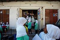 Tanzanie, archipel de Zanzibar, ile de Unguja (Zanzibar), ville de Zanzibar, quartier Stone Town classe patrimoine mondial UNESCO, ecole dans la vielle ville // Tanzania, Zanzibar island, Unguja, Stone Town, unesco world heritage, school