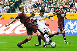 10.09.2011,  BorussiaPark, Mönchengladbach, GER, 1.FBL, Borussia Mönchengladbach vs 1. FC Kaiserslautern, im Bild.Igor de Camargo (Mönchengladbach #10) gegen Martin Amedick (Kaiserslautern #5) und Rodnei (Kaiserslautern #20)..// during the 1.FBL, Borussia Mönchengladbach vs 1. FC Kaiserslautern on 2011/09/09, BorussiaPark, Mönchengladbach, Germany. EXPA Pictures © 2011, PhotoCredit: EXPA/ nph/  Mueller *** Local Caption ***       ****** out of GER / CRO  / BEL ******