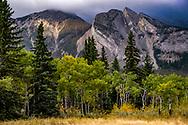 Photo Randy Vanderveen<br /> Jasper National Park, Alberta<br /> 2020-09-24<br /> evening light on mountains