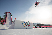 Rowan Coultas, Great Britain, during the mens snowboard big air qualification at the Pyeongchang 2018 Winter Olympics on February 21st 2018, at the Alpensia Ski Jumping Centre in Pyeongchang-gun, South Korea