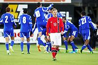 Fotball , 15. oktober 2013 , U21 ,  Norge - Israel<br /> Norway - Israel 1-3<br /> Mats Møller Dæhli , Norge depper foran et jublende Israel