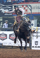 April 12, 2014: The PRCA (Professional Rodeo Cowboys Association) cowboys compete in day 3 events at the Ram National Circuit Finals Rodeo at Lazy E Arena in Guthrie, OK.