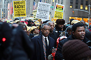 20 February 2009 NY, NY -Rev. Al Sharpton at Day 2 of New York Post Protest by Rev. Al Sharpton and The National Network against offensive cartoon depicting dead Chimpanzee as President Obama.