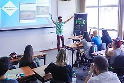 Matheus Piovesan palestra <br /> Comunicação pública pode ser descolada? Cultura pop na criação de um conteúdo criativo durante o #FT18, realizado pela ADVB-RS, na ESPM-Sul. Inspirado em alguns dos maiores eventos do mundo de inovação e tendências (SXSW, Cannes Lions e Burning Man), o #FT18 é maior hub de conteúdo da história de Porto Alegre.  Foto: \\ / Agência Preview