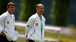 23.05.2010, AUT, FIFA Worldcup Vorbereitung, Training Kamerun im Bild Yves Colleu, Co-Trainer, Nationalteam Kamerun, FRA, Paul Le Guen, Trainer, Nationalteam Kamerun, FRA, EXPA Pictures © 2010, PhotoCredit: EXPA/ J. Feichter / SPORTIDA PHOTO AGENCY