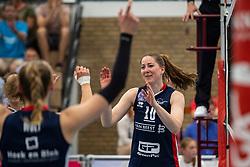 21-04-2019 NED: VC Sneek - Sliedrecht Sport, Sneek<br /> Final Round 2 of 5 Eredivisie volleyball - Sliedrecht Sport win 3-0 / Carlijn Ghijssen-Jans #10 of Sliedrecht Sport