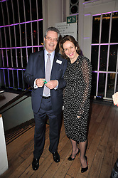 JONATHAN LLOYD and CAROLINE MICHEL at the annual Orion Publishing Group's Author party held in the Paul Hamlyn Hall, The Royal Opera House, Covent Garden, London on 15th February 2011.