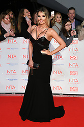 Chloe Sims attending the National Television Awards 2018 held at the O2, London. Photo credit should read: Doug Peters/EMPICS Entertainment