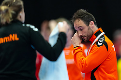 Coach Emmanuel Mayonnade of Netherlands during the Women's EHF Euro 2020 match between Croatia and Netherlands at Sydbank Arena on december 06, 2020 in Kolding, Denmark (Photo by RHF Agency/Ronald Hoogendoorn)