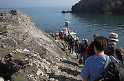 Tourist boat ' Dale Princess' departure from Martin's haven to Skomer Island, Pembrokeshire, Wales