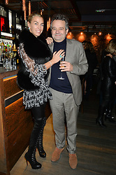 ASSIA WEBSTER and MARK HIX at the launch of Korean restaurant Jinjuu with chef Judy Joo at 15 Kingley Street, London on 22nd January 2015.
