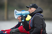 London. UNITED KINGDOM.   Tideway Week. OUBC Chief, Coach, Sean BOWDEN.162nd BNY Mellon Boat Race  and The 71st Newton Women's Boat Race on the Championship Course, River Thames, Putney/Mortlake.  Saturday  26/03/2016    [Mandatory Credit. Intersport Images]<br /> <br /> Oxford University Boat Club {OUBC}<br /> <br /> Oxford, Crew, Bow: George McKirdy – 76.8kg, 2: James White – 87.0kg, 3: Morgan Gerlak – 85.8kg, 4: Joshua Bugajski – 96.4kg, 5: Leo Carrington – 87.0kg, 6: Jørgen Tveit – 82.4kg, 7: Jamie Cook – 84.0kg, Stroke: Nik Hazell – 94.8kg, Cox: Sam Collier – 56.2kg