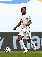 TIRANA, ALBANIA - MARCH 28: Raheem Sterling of England during the FIFA World Cup 2022 Qatar qualifying match between Albania and England at the Qemal Stafa Stadium on March 28, 2021 in Tirana, Albania. Sporting stadiums around Europe remain under strict restrictions due to the Coronavirus Pandemic as Government social distancing laws prohibit fans inside venues resulting in games being played behind closed doors (Photo by MB Media)