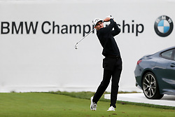 September 8, 2018 - Newtown Square, Pennsylvania, United States - Aaron Wise tees off the 17th hole during the third round of the 2018 BMW Championship. (Credit Image: © Debby Wong/ZUMA Wire)