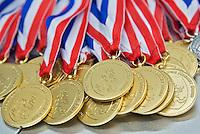 AMSTERDAM - medaillesDemonstratiewedstrijd van het Nederlands E-hockey team. COPYRIGHT KOEN SUYK