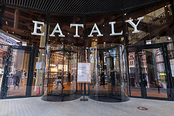 © Licensed to London News Pictures. 29/04/2021. London, UK. Photos shows the soft launch of Eataly Italian food store fin Bishopsgate featuring three restaurants, 6 eateries and over 5,000 Italian products to buy. Photo credit: Ray Tang/LNP