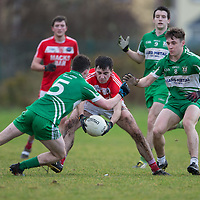 Corofin's Ian Reidy V  Wolfe Tones Ross O'Connor, Rory Hayes and Ian Collins