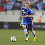 Kevin De Bruyne, Chelsea, in action during the Chelsea V AC Milan Guinness International Champions Cup tie at MetLife Stadium, East Rutherford, New Jersey, USA.  4th August 2013. Photo Tim Clayton