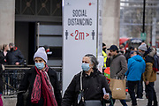 As England finishes its second Coronavirus pandemic lockdown, and London enters a Tier 2 restriction, Londoners return to the West End to start their Christmas high street shopping, on 2nd December 2020, in London, England.