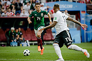 Javier Hernandez of Mexico during the 2018 FIFA World Cup Russia, Group F football match between Germany and Mexico on June 17, 2018 at Luzhniki Stadium in Moscow, Russia - Photo Thiago Bernardes / FramePhoto / ProSportsImages / DPPI