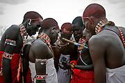 Moments after I filmed them, Samburu tribesmen in Northern Kenya watch a high definition video of themselves.