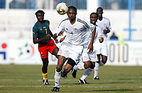 Fotball<br /> African Nations Cup 2004<br /> Foto: Digitalsport<br /> Norway Only<br /> <br /> Nigeria<br /> <br /> 1/4 FINAL - 040208<br /> NIGERIA v KAMERUN<br /> NWANKWO KANU (NIG)