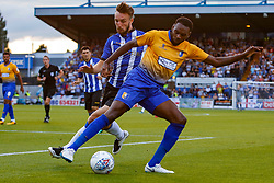 Hayden White of Mansfield Town takes possession from Morgan Fox of Sheffield Wednesday - Mandatory by-line: Ryan Crockett/JMP - 24/07/2018 - FOOTBALL - One Call Stadium - Mansfield, England - Mansfield Town v Sheffield Wednesday - Pre-season friendly