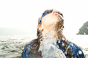portrait - girl splashing