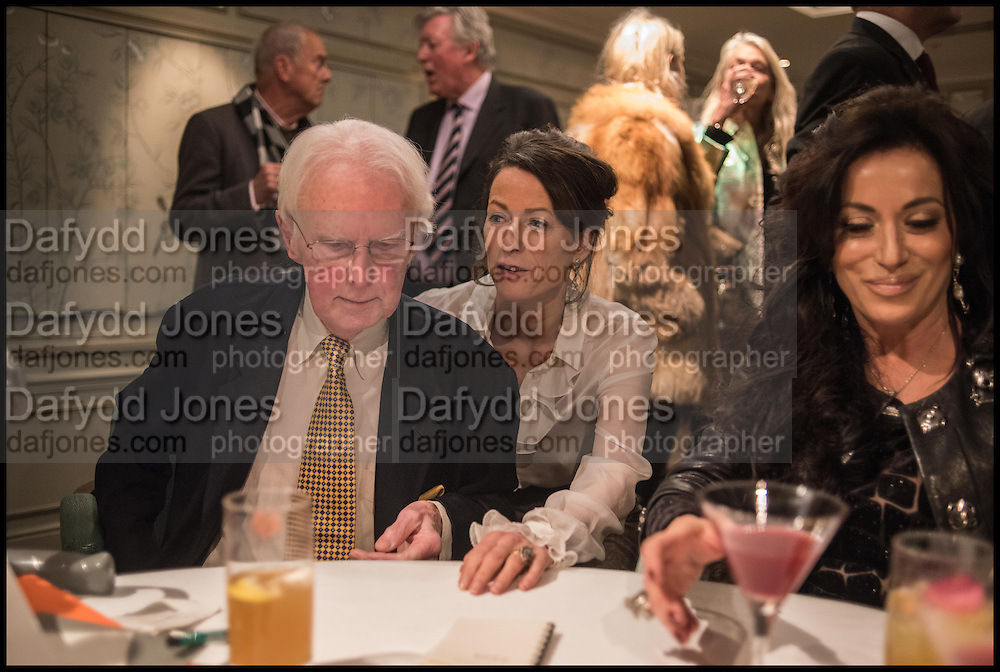 BRIAN SEWELL; SALLY ANN LASSON; NANCY DELL D'OLIOFortnum and Mason and Quartet books host a celebration for the publication of  The White Umbrella by Brian Sewell. Illustrated by Sally Ann Lasson. Fortnum and Mason. Piccadilly. London. 3 March 2015.