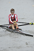 Hazewinkel, BELGIUM,  Men's Lightweight Single Sculls, Zac PURCHASE, at the start of their race in the Sunday Afternoon Semi Finals at the British Rowing Senior Trails, Bloso Rowing Centre. Sunday,  11/04/2010. [Mandatory Credit. Peter Spurrier/Intersport Images]