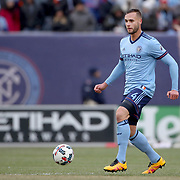 NEW YORK, NEW YORK - March 18: Maxime Chanot #4 of New York City FC in action during the New York City FC Vs Montreal Impact regular season MLS game at Yankee Stadium on March 18, 2017 in New York City. (Photo by Tim Clayton/Corbis via Getty Images)