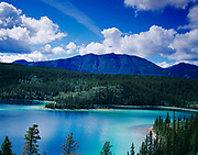Emerald Lake along the South Klondike Highway seven miles north of Carcross, Yukon Territory, Canada.