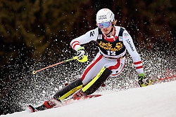 05.03.2017, Podkoren, Kranjska Gora, SLO, FIS Weltcup Ski Alpin, Kranjska Gora, Slalom, Herren, 1. Lauf, im Bild Manuel Feller (AUT) // Manuel Feller of Austria in action during his 1st run of men's Slalom of FIS ski alpine world cup at the Podkoren in Kranjska Gora, Slovenia on 2017/03/05. EXPA Pictures © 2017, PhotoCredit: EXPA/ Johann Groder