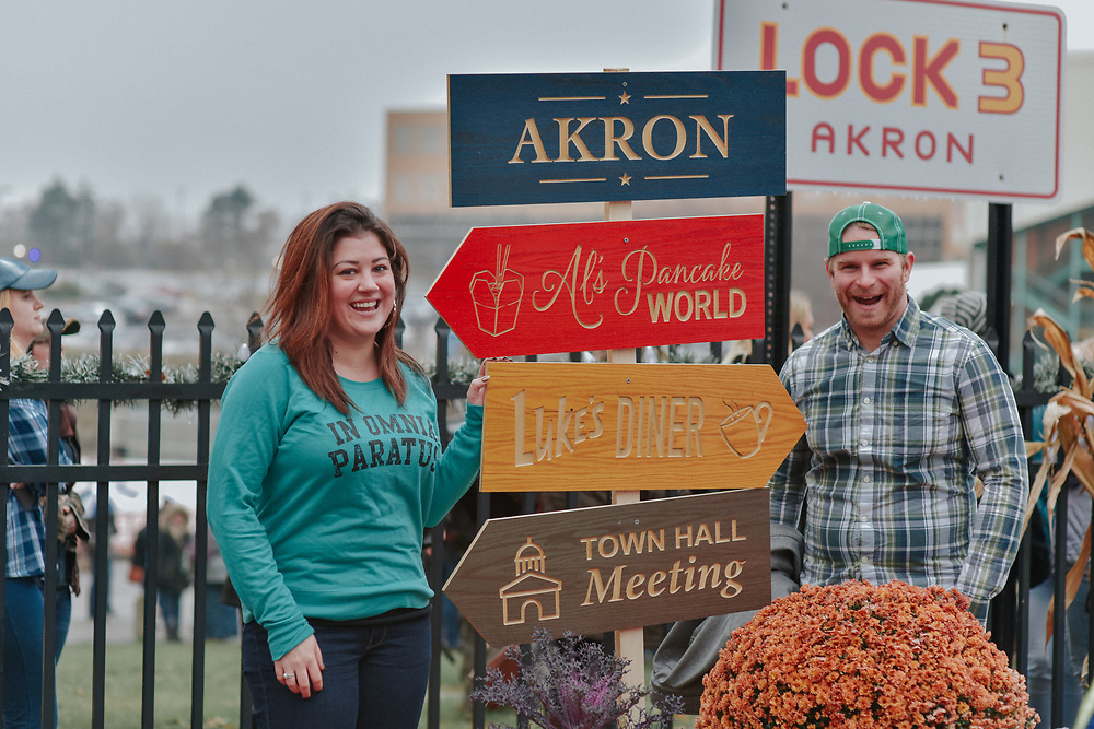 Gilmore Girls Day at Lock 3 in downtown Akron November 2018.