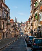 street scene of Rua de 31 de Janeiro, Santo Antonio, Porto, Portugal