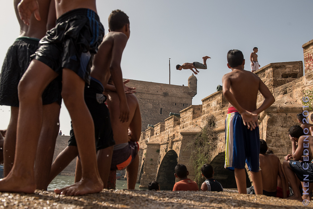 """Street scenes in Essaouira, Morocco Aug 21, 2016. Essaouira is one of the worlds most popular spots for wind surfing. Essaouira is one of the locations the TV series """"Game of Thrones"""" was filmed. Photo Ken Cedeno"""
