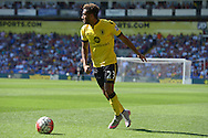 Jordan Amavi of Aston Villa in action. Barclays Premier league match, Crystal Palace v Aston Villa at Selhurst Park in London on Saturday 22nd August 2015.<br /> pic by John Patrick Fletcher, Andrew Orchard sports photography.